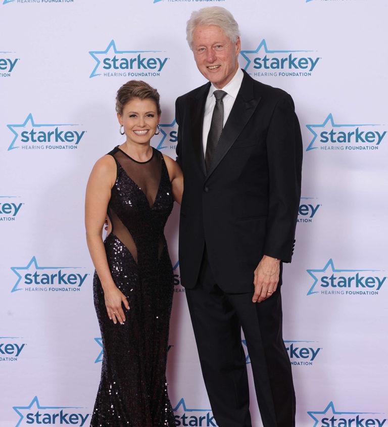 Bill Clinton and Jennifer Evans